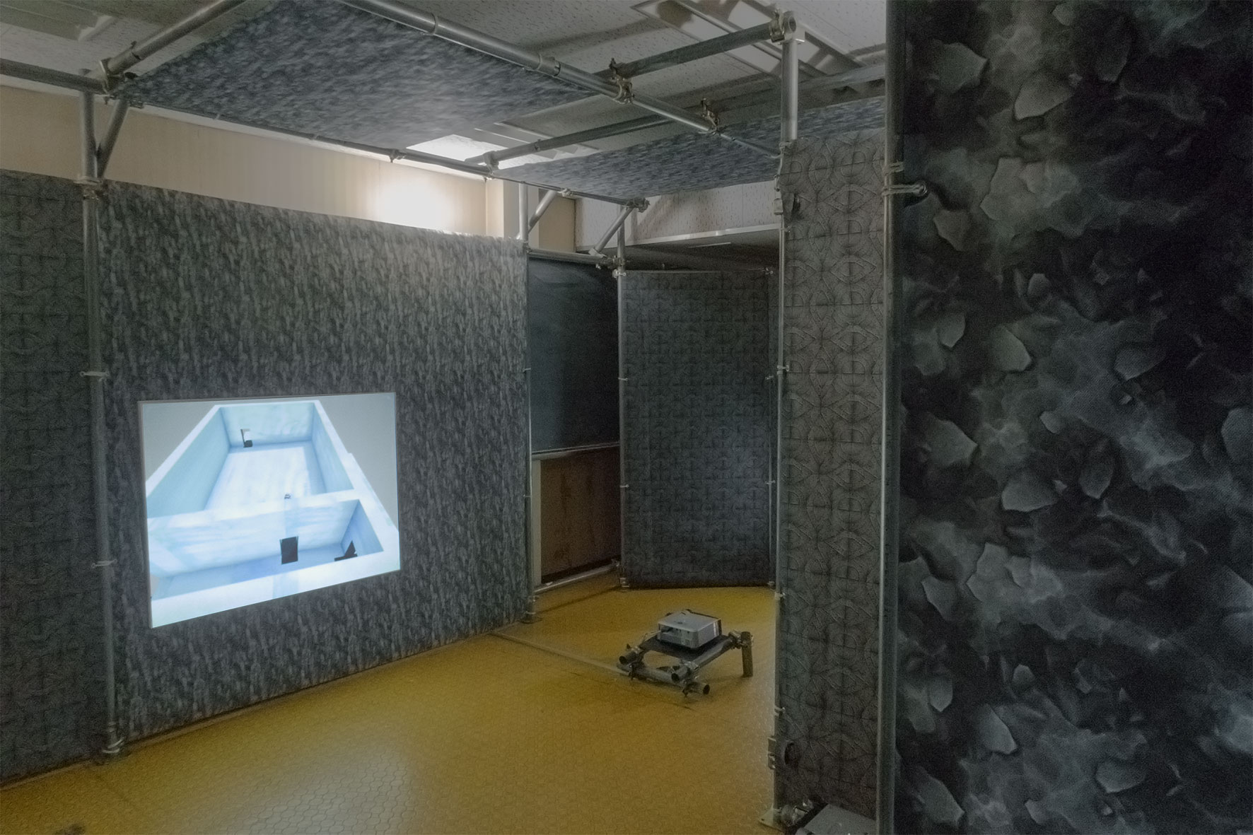 Mickael Lianza Magrathea art video game Palais des paris japon installation